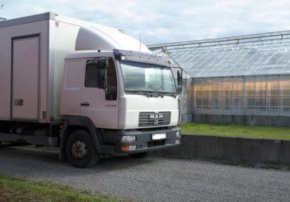 Lastebil utenfor gartneri, fritak for yrkessjåførforskriften